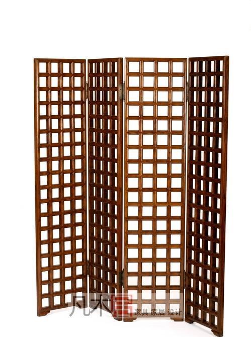 凡木居现代中式系列A6001方格屏风A6001