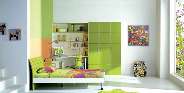 七彩人生整体卧室橄榄绿组合Q5-BP201Q5-BP201