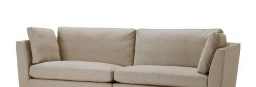 宜家斯德哥尔摩(浅褐色/米黄色)三人半沙发斯德哥尔摩