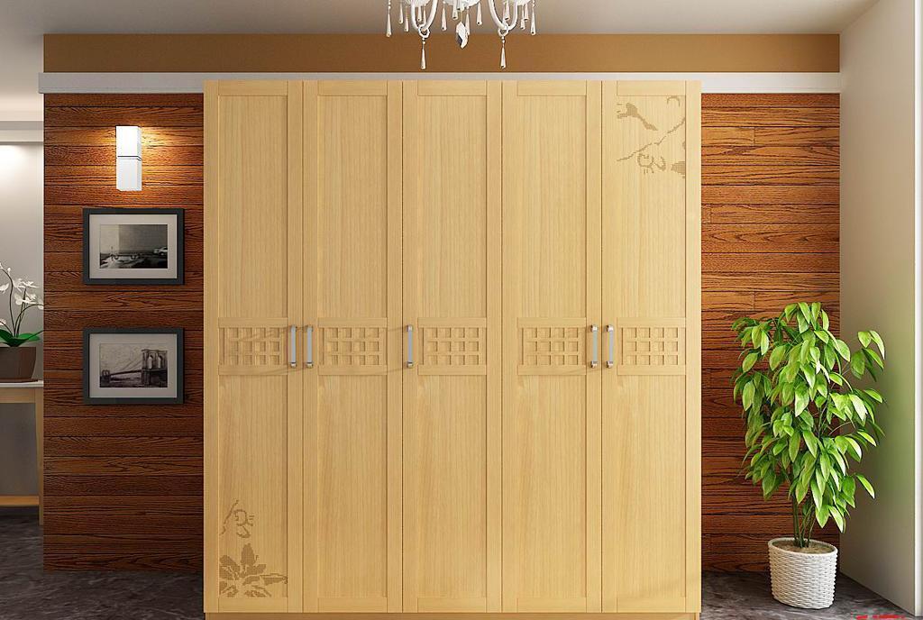 树之语水木年华系列-浅色YG7505五门衣柜YG7505