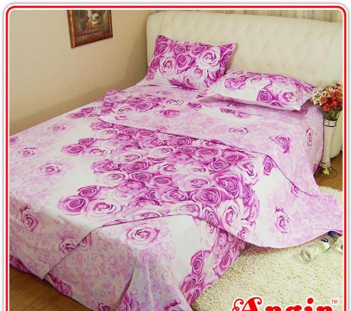 安寝家纺娇艳动人高级斜纹床上用品四件套