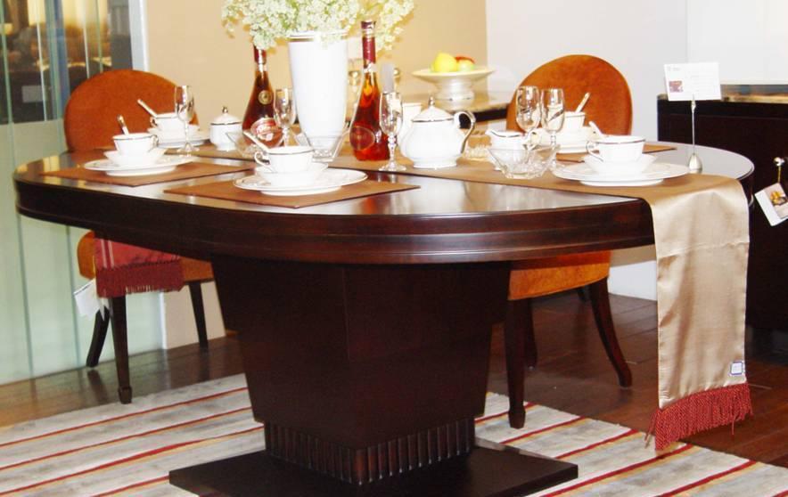 赛恩世家餐厅家具椭圆餐桌SP187SP187