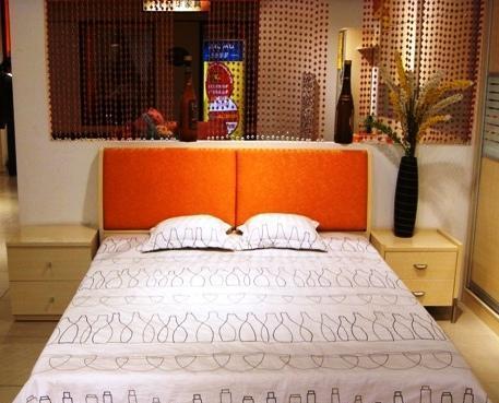 五木板式家具系列-双人床架WD-36WD-36