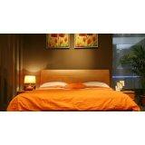 健威家具-加州缘系列-梨木床(橘色)