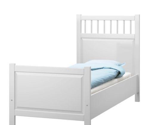 宜家床架-汉尼斯-白色汉尼斯