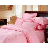 红富士床上用品高级提花系列艺术人生(粉红)