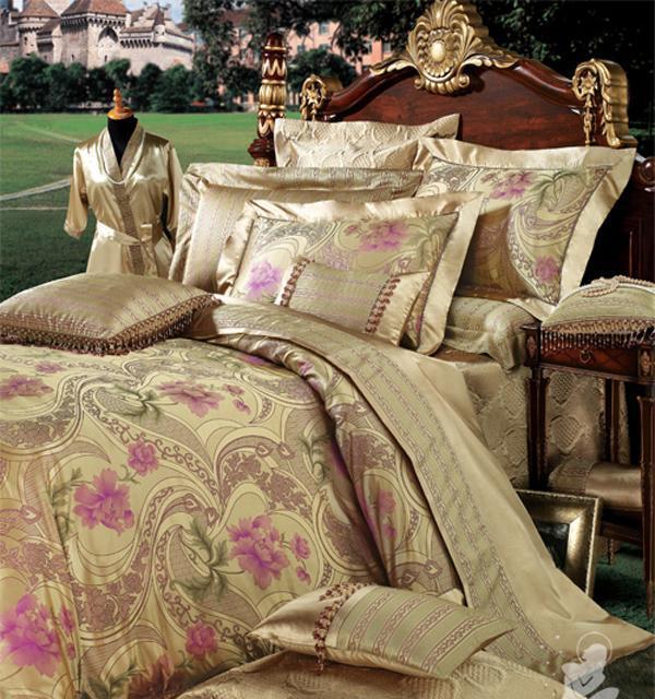 百丽丝15011-k15全棉缎纹桑蚕丝提花套件-永恒维