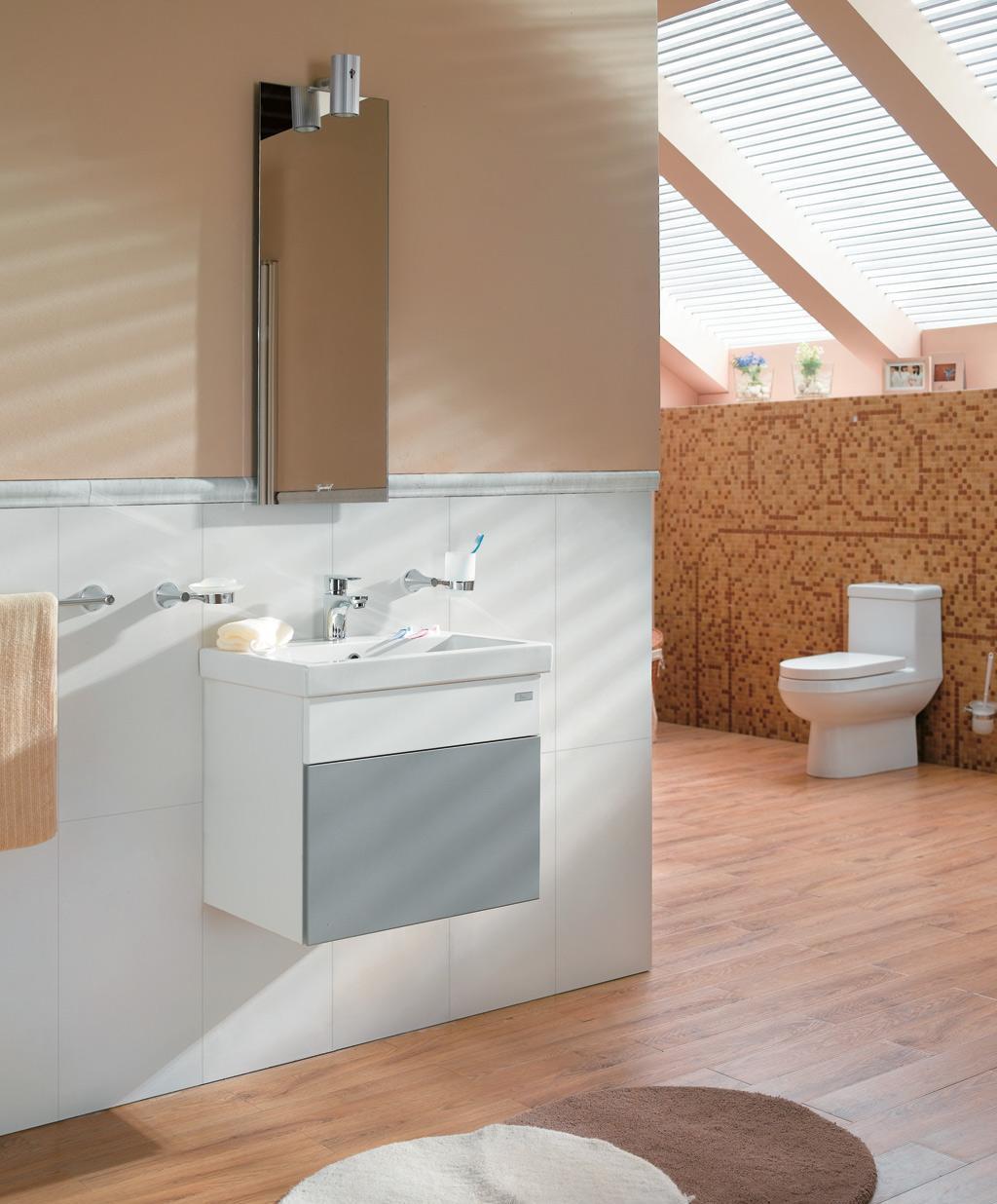 吉事多乐活系列570浴室柜 GE-0401-D3W1-HTQ