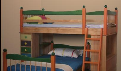 爱心城堡彩色糖果系列下层床J006-BDK1-NRJ006-BDK1-NR