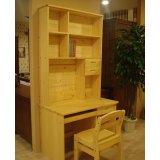 树之语新艾薇尔松木原木色系列SCP-2书柜电脑桌