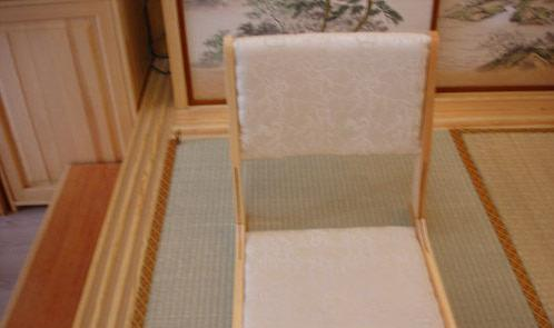 艺唐和室榻榻米古典字折叠椅YT04