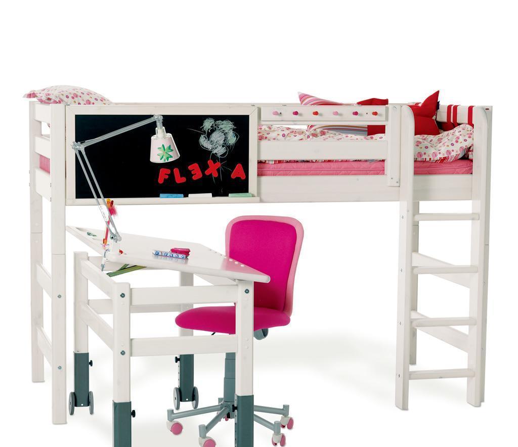 丹麦芙莱莎儿童家具半高床组合CLAIRE2(白色)CLAIRE2