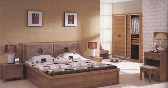 森盛家具卧房套装浅胡桃系列10