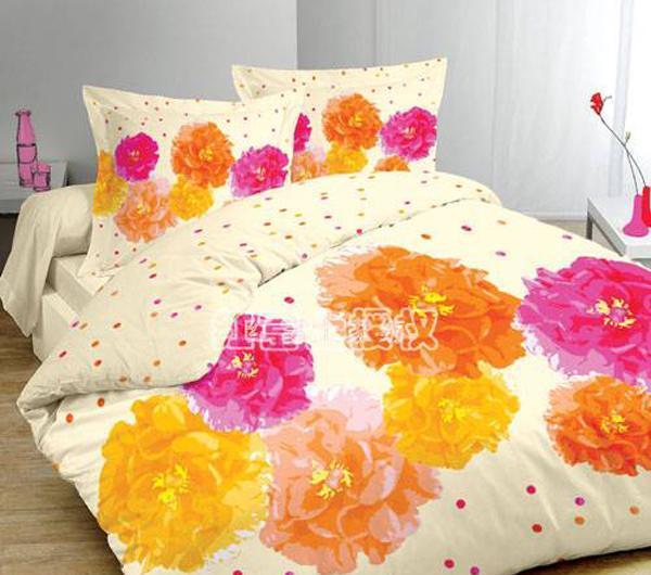 红富士高级被套床单四件套-花团锦簇花团锦簇