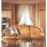 罗浮居金色三人沙发意大利SILIK家具