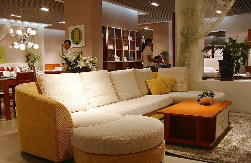 诺捷客厅家具沙发(3310*1700*500mm红樱桃)