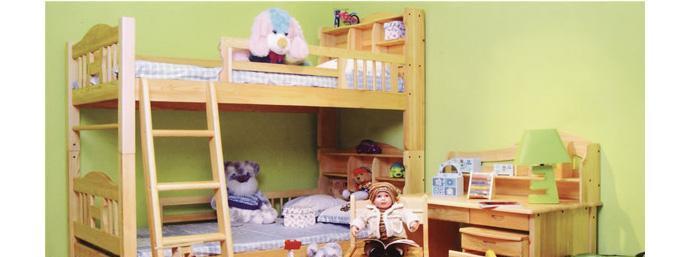 香柏年松木儿童床A17