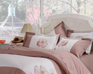 红富士床上用品高级绣花系列恬静(灰)