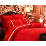 红富士床上用品高级提花系列吉祥姻缘(大红)