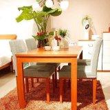 诺捷餐厅家具餐桌1600*800*750mm红樱桃