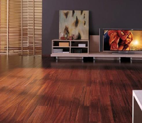 富林满江红系列非洲紫檀实木地板-圆盘豆