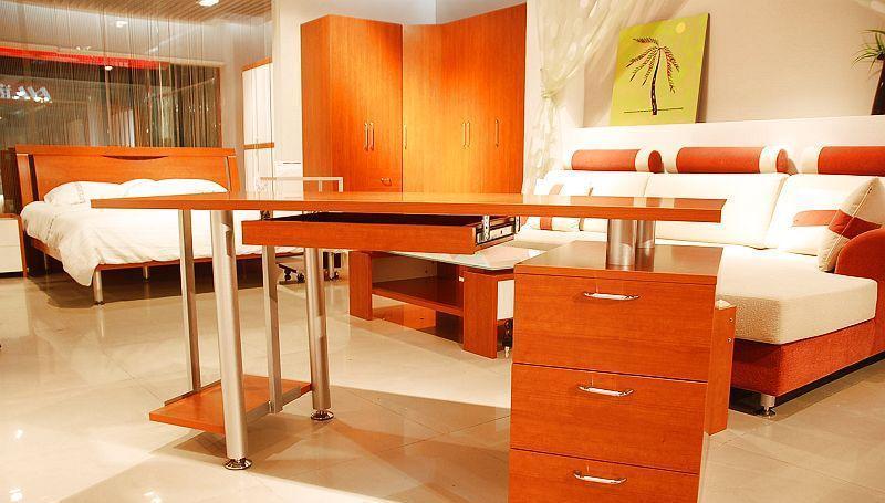 诺捷书房家具电脑桌1600*600*735mm红樱桃