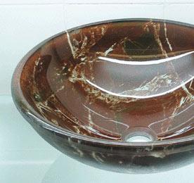 古亚立体玻璃盆Y318