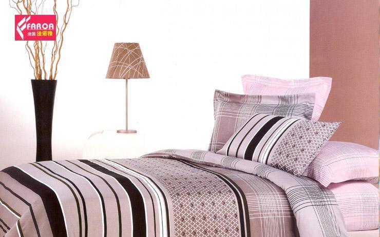 法诺雅床上用品四件套高密斜纹欧韩式新款活性印