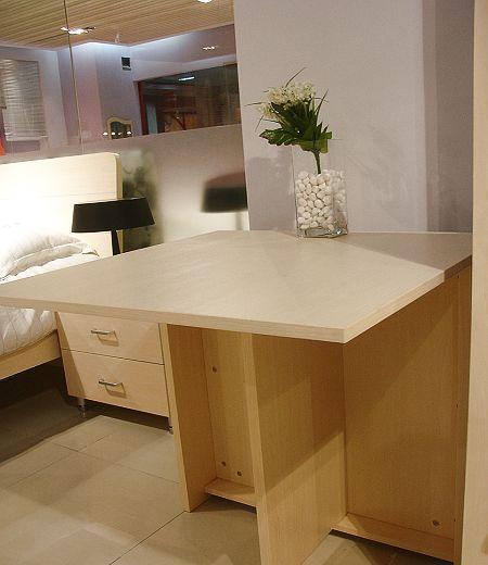 诺捷餐厅家具餐桌1340*800*757mm白枫