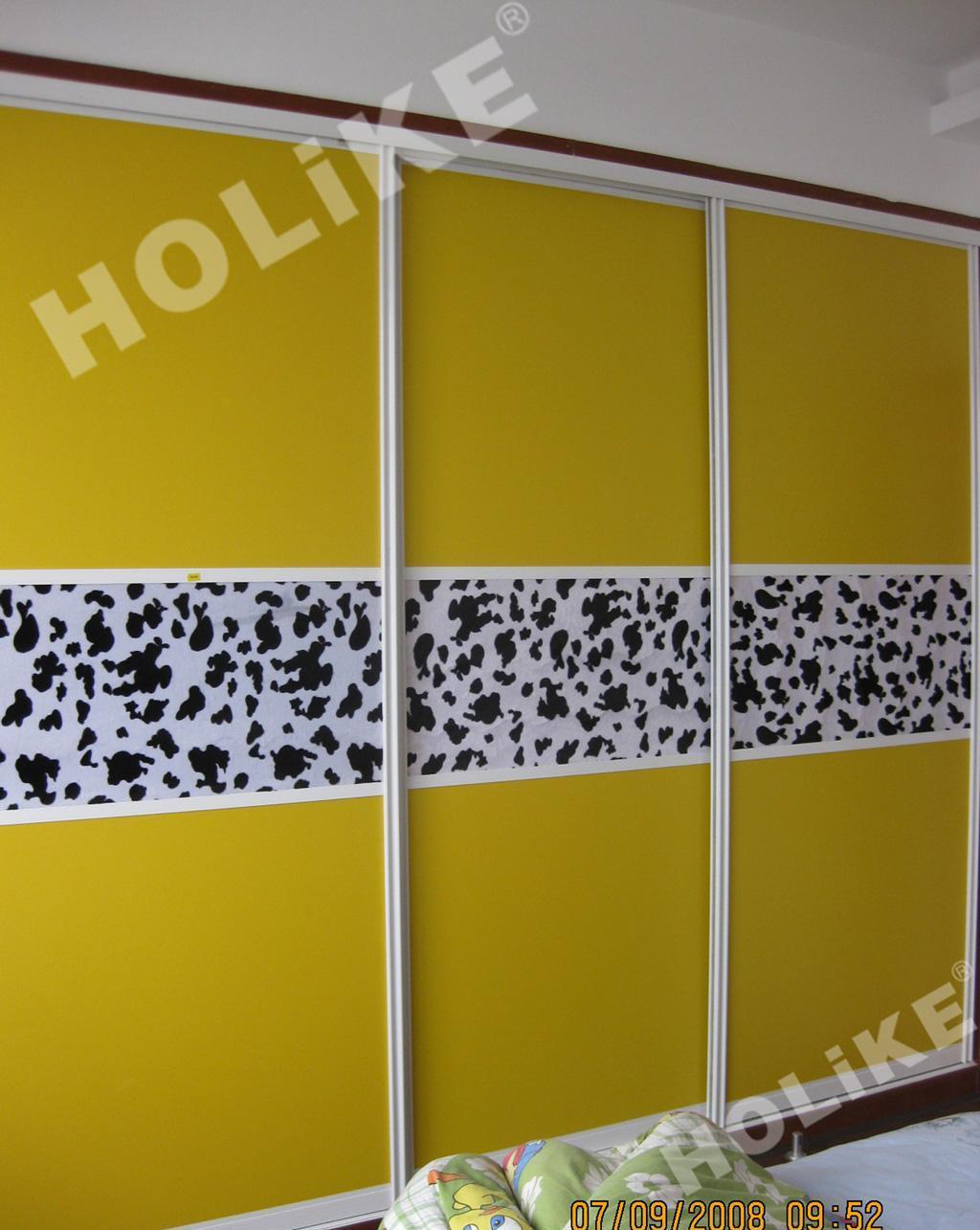 好莱客335柯达黄衣柜+斑点狗布艺柯达黄