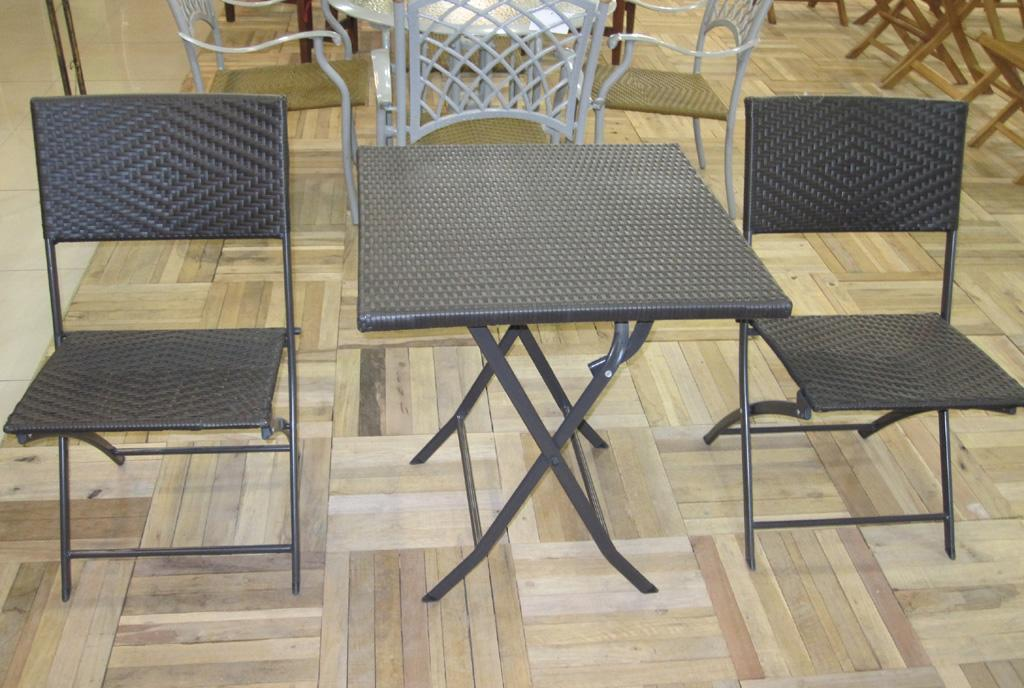 EcoG溢柯编藤折叠方桌