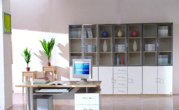 森盛家具书房套装白榉系列17(书柜)P012