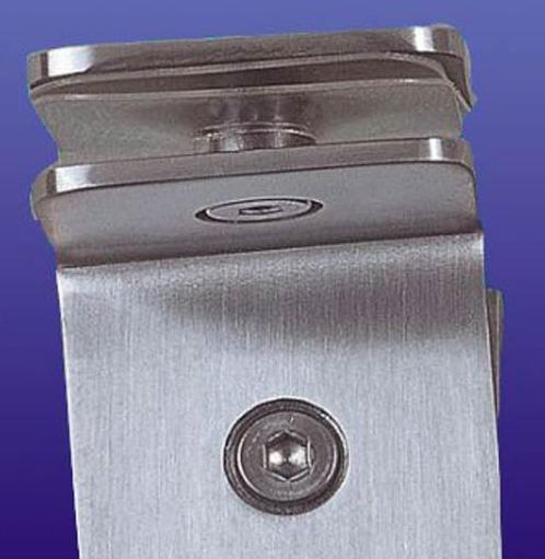 富力玻璃夹90度不锈钢方形(双面)B018B018