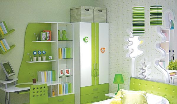 七彩人生整体卧室苹果绿苹果绿