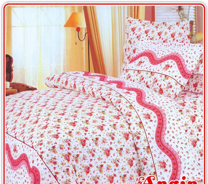 安寝家纺美妙花季高级斜纹床上用品四件套美妙花季