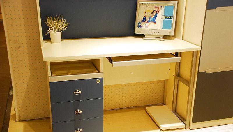 我爱我家儿童家具FG10-AA+G+W组合书桌(深蓝色+FG10-AA+G+W
