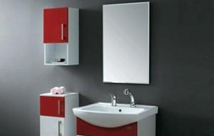 法恩莎PVC浴室柜3683上侧柜大红/白色3683上侧柜
