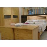 宜伟松木系列YW-UF-69床+床头柜+电视柜+衣柜