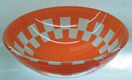 古亚双层玻璃盆S718