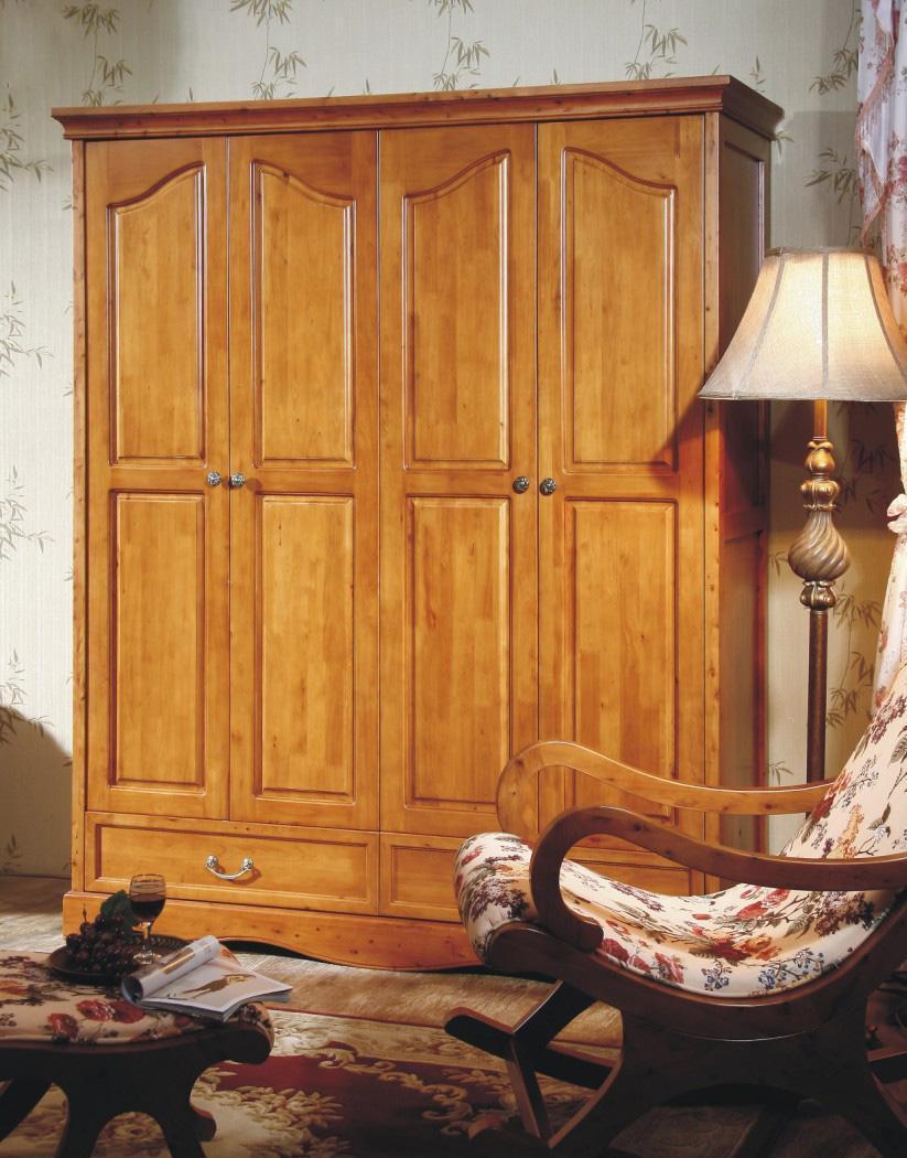 树之语艾丁堡柏木系列FS8004四门衣柜FS8004