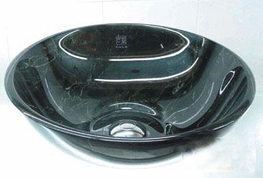 古亚双层玻璃盆S638