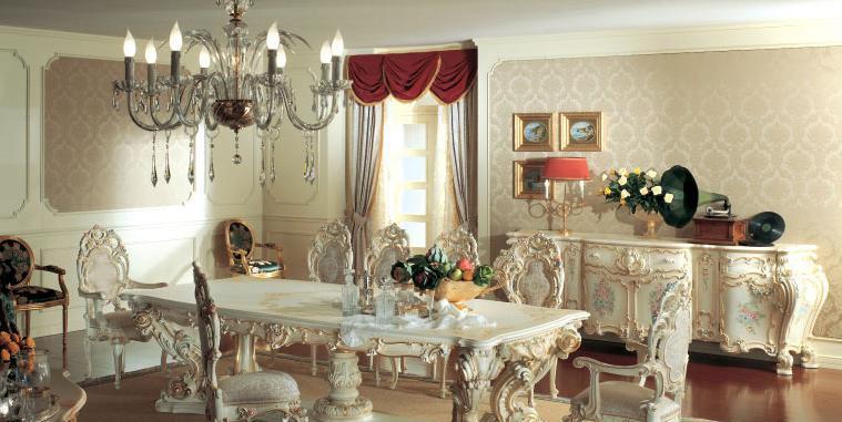 罗浮居餐台椅合意大利SILIK家具