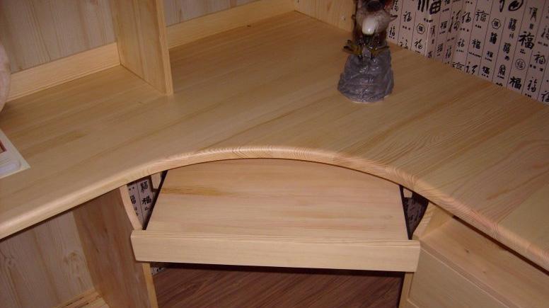 香柏年松木转角书柜电脑桌