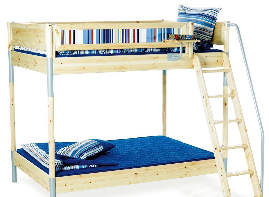 丹麦芙莱莎儿童家具双层床组合BJORN2(本木色)