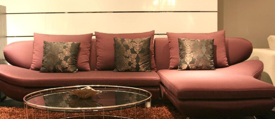 凯帝布艺单扶KD8061三位沙发KD8061