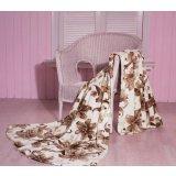 珑棉家纺印花珊瑚绒毯淡雅