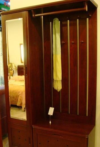 光明实木卧室家具系列-001衣帽架001-9109-1198
