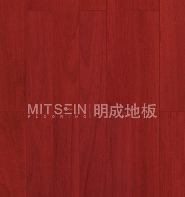 明成纤皮玉蕊实木地板(红色亮光)纤皮玉蕊
