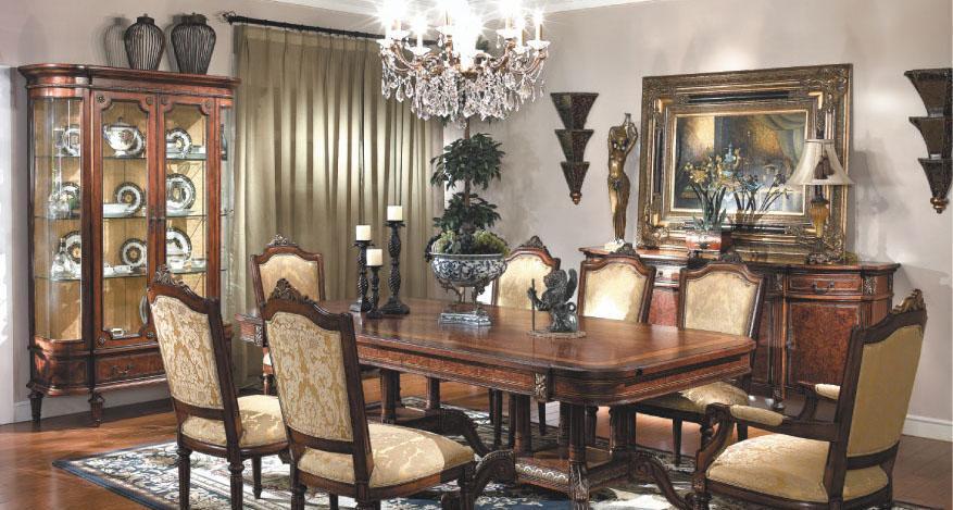 大风范家具路易十六餐厅系列LV-710-2餐桌LV-710-2餐桌