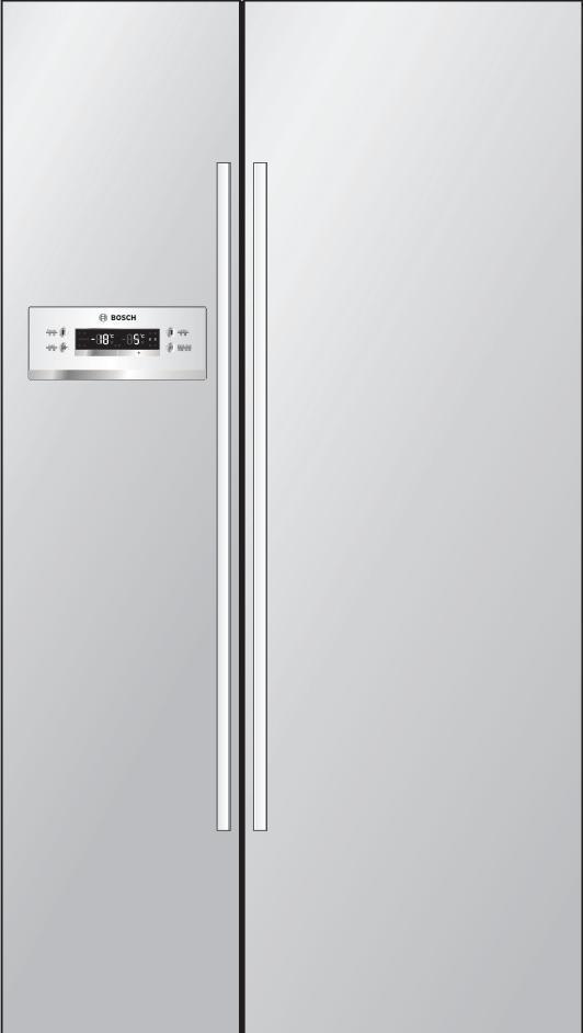 博世至尚对开门冰箱KAN62V40TI